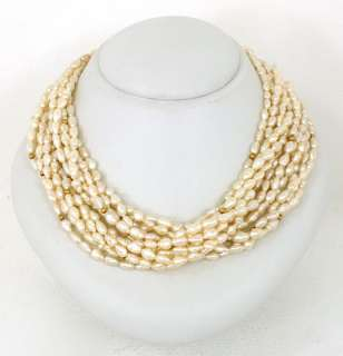 LAVISH 18K GOLD FRESHWATER PEARLS LADIES LONG NECKLACE