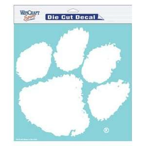 Clemson Tigers Die Cut Decal   8in x8in White Sports