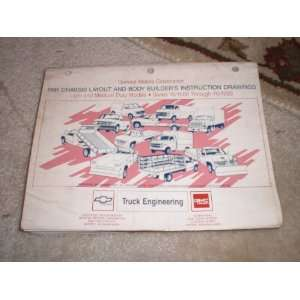 1991 Chassis Layout and Body Builders Drawings Light and Medium Duty