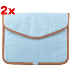 Neewer 2x Light Blue Canvas Bag Sleeve Case for iPad