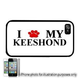 Keeshond Paw Love Dog Apple iPhone 4 4S Case Cover Black