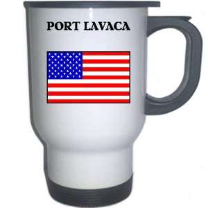 US Flag   Port Lavaca, Texas (TX) White Stainless Steel