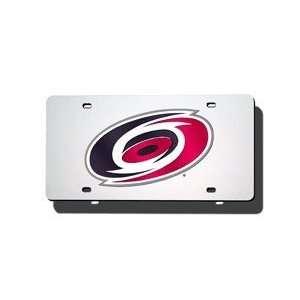 Carolina Hurricanes NHL Laser Cut Silver License Plate