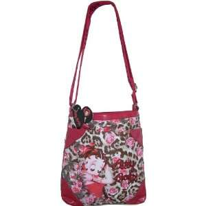 Betty Boop Flower Rose Messenger Bag Purse Wallet Sequin