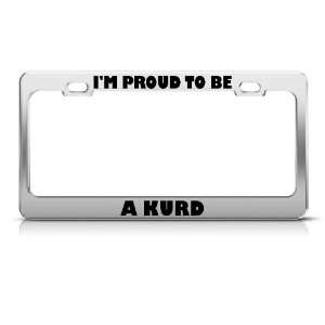 Proud To Be A Kurd Turkey License Plate Frame Stainless Metal Tag