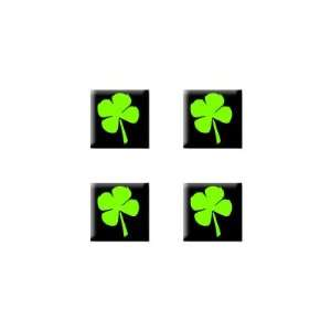 Four Leaf Clover   Set of 4 Badge Stickers Electronics