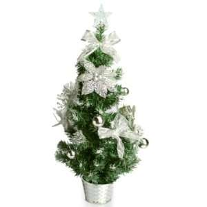 2 ft. Decorated Christmas Tree   Silver Star   675106