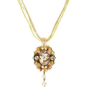 Perfect Gift   High Quality Vintage Pendant with Bead Necklace (2595)