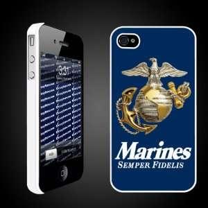 Military iPhone Case Designs Marines Semper Fidelis (Blue