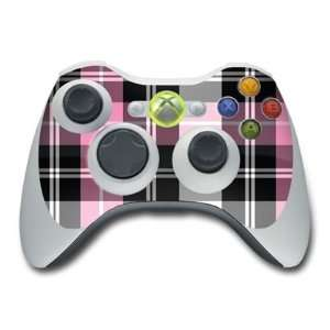 Pink Plaid Design Skin Decal Sticker for the Xbox 360