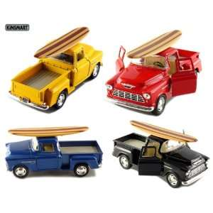 Pickup with Surfboard 132 Scale (Black/Blue/Red/Yellow) Toys & Games