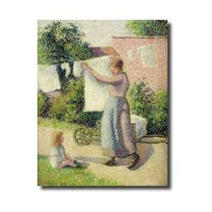 Woman Hanging Up The Washing 1887 Giclee Print: Home