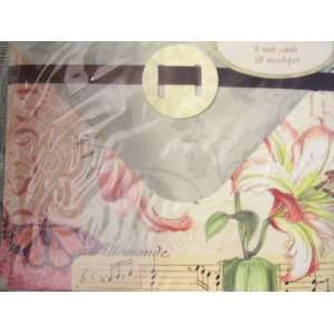 Set ~ Pink & White Flower, Butterfly & Music Score: Office Products