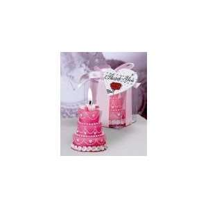 wedding cake candles   pink