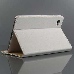 White / PU Leather Flip Stand Case for Galaxy Tab GT P6800