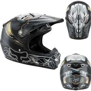 Fox Youth V2 High Noon Full Face Helmet Large  Black