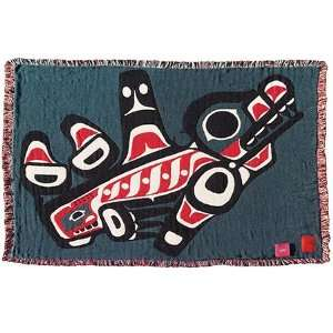 Joe Mandur Jr Killer Whale 3 Layer Woven Throw: Everything