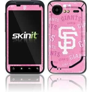 San Francisco Giants   Pink Cap Logo Blast skin for HTC