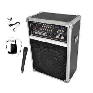 Wireless PA System W/USB/SD/, 2 VHF Wireless Microphones (1