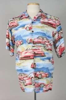 Vtg Reyn Spooner Hawaiian 100% Rayon Corvette Shirt M