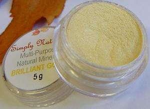 Artistic Bare Pigment Minerals EyeShadow Makeup BRILLIANT GOLD