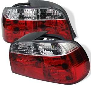 1995 2001 BMW E38 7 Series SR Red/Clear Tail Lights Automotive