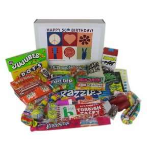 50th Birthday Gift Box Peace & Love Grocery & Gourmet Food