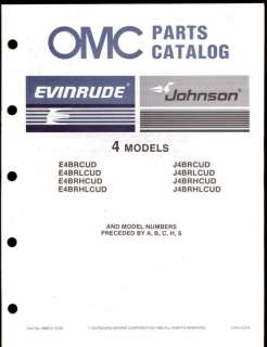 1987 OMC / JOHNSON / EVINRUDE 4 OUTBOARD ENGINE PARTS MANUAL