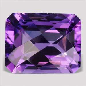 3.20 ctw SI Clarity Emerald Cut Checker Board Shape Purple