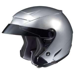 HJC FS 3 Open Face Motorcycle Helmet Solid Colors Silver