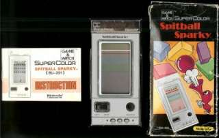 NINTENDO GAME & WATCH POCKETSIZE SPITBALL SPARKY BOXED