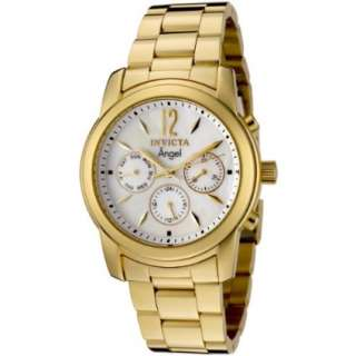 Invicta Womens 0465 Angel Collection 18k Gold Plated Stainless Steel