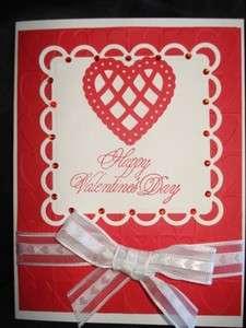 Handmade Valentines Day Card Stampin Up Cuttlebug Love