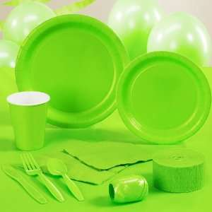BuySeasons Fresh Lime (Lime Green) Deluxe Party Kit (24