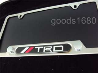 toyota TRD badge Stainless Steel License Plate Frame