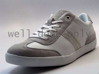 Guess Jerry white leather mens lace up shoes sneakers
