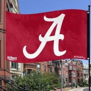 NCAA University of Alabama Crimson Tide (2 sided) Rivals Flag 3X5 FEET