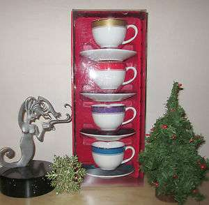 Starbucks Coffee Christmas 2006 Espresso Cup Mini Mug And Saucer Lot