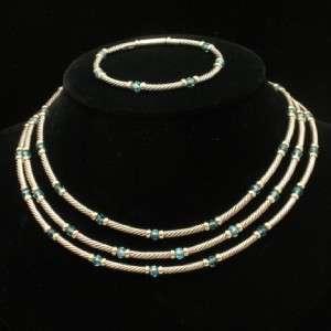 Yurman Set Necklace Bracelet 14k Gold & Sterling Silver Vintage