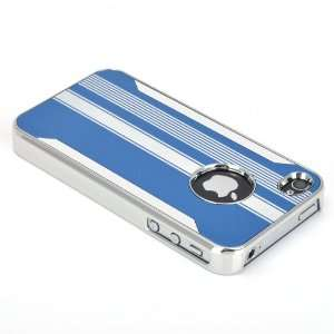 ATC Deluxe Blue Aluminum Chrome Hard Case Cover For iPhone