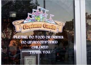 Business Shop Window Sign Vinyl Sticker Decal Custom New