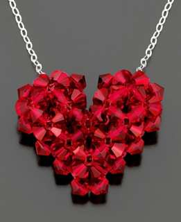 Red Crystal Heart Pendant   Necklaces & Pendants   Jewelry & Watches