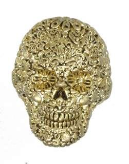 Disney Couture Pirates Caribbean Gold Skull Ring