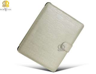 Pearl white OL Elegant PU Leather Case Cover Stand for iPad 1