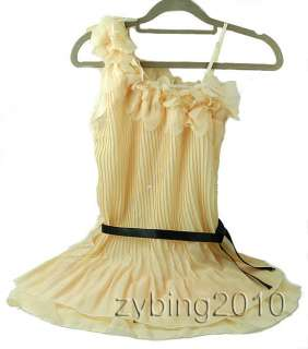 Nice One Shoulder Sweet Pleated Party Chiffon Dress Hot sell