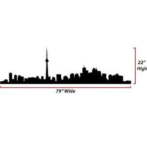 Toronto Skyline Silhouette  X Large  Vinyl Wall Decal: Everything Else