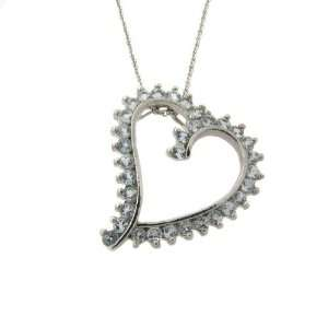Gem Jolie Silver Blue Topaz Heart Necklace Jewelry