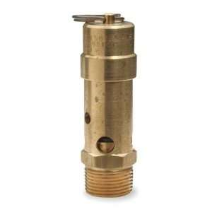 SW Series Brass ASME Safety Valve, 125 psi Set Pressure, 1 Male NPT