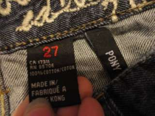 PONY Numbered Edition Rhinestone Boot Cut Jeans RARE 27x33