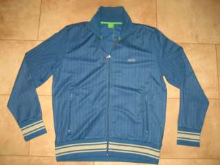 HUGO BOSS GREEN Blue Jacket Sweater Coat Sweatshirt L